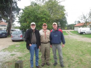 Christian Gunther, President of Club de L'Epagneul Breton with John and Bruce in Escource, France
